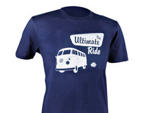 Official VW Camper Van T1 Mens Blue Cotton T-Shirt - The Ultimate Ride