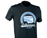 Official VW Camper Van T1 Mens Black T-Shirt - Samba