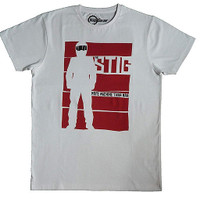 Official Top Gear 'Stig - More Machine Than Man' Mens T-shirt - White