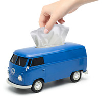 Official VW Camper Van Plastic Tissue Box Holder - Blue