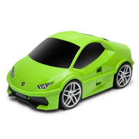 Official Lamborghini Huracan Car Kids Pull-Along Case / Travel Suitcase - Green