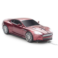 Official Aston Martin DBS Car Wired Computer Mouse - Red