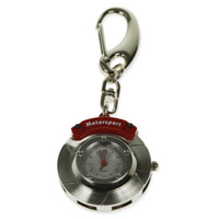 Car Brake Disc Keyring with integrated clock in gift box