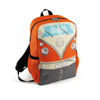 Official VW Camper Van Kids School Backpack Bag - Orange