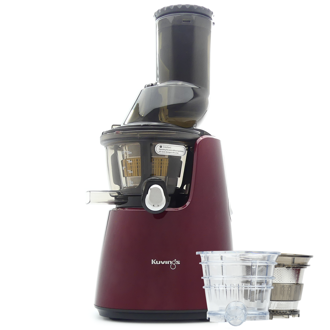 Kuvings C9500 Whole Fruit Juicer in Red with Accessory Pack