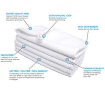 8 x 8 Ultra Fluffy Microfiber Facial Cloth with Satin Border - WHITE