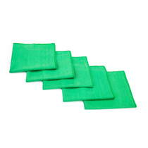 16 x 16 Green Microfiber Glass and Window Towel