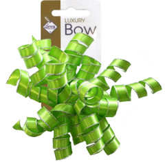 Satin Ribbon Curlies, Lime Green