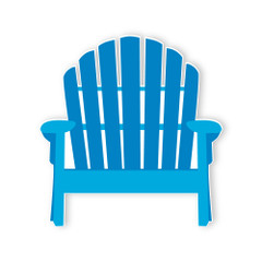 Surf'in Beach Chair, Blue 3' tall