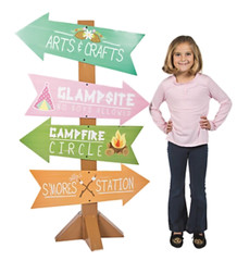 Glam Camping Directional Sign