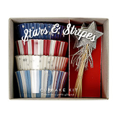 Stars and Stripes Cupcake Kit