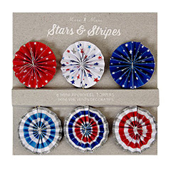 Stars and Stripes Pinwheel Topper