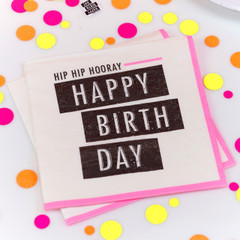 Neon Birthday Napkins