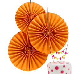 Paper Pinwheel, Neon Orange