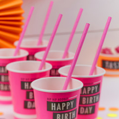 Paper Straws, Pink Neon