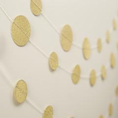 Garland, Gold Glitter Circles