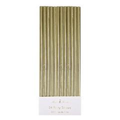 Paper Straws, Metallic Gold