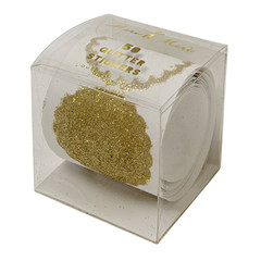 Stickers, Roll of 50 Gold Glitter