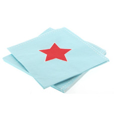 Blue & Red Star Napkins