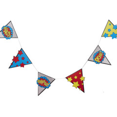 "Super Hero Bunting ""Comic"""
