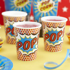 Pop Art Super Hero Party Cup