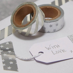 Washi Tape, Silver Foil