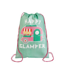 Glam Camping Drawstring Bag