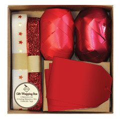Gift Wrapping Box Set, Deluxe Glitz Red