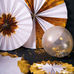Paper Pinwheels, Giant Gold Foil