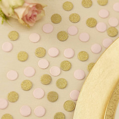Confetti, Mini Pink and Gold Glitter