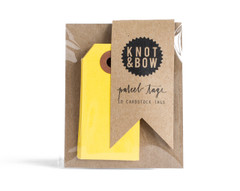 Parcel Tag: 10 lemon yellow