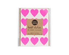 Heart Stickers: 36 Neon Pink