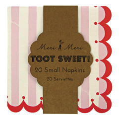 Toot Sweet Pink Stripe Napkins, Small