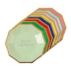 Happy Birthday Plates, Small