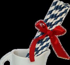 Paper Straws, Stripey Navy Blue