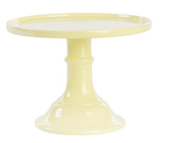 Miss Etoile Ceramic Cake Stand, Large, Lemon Yellow