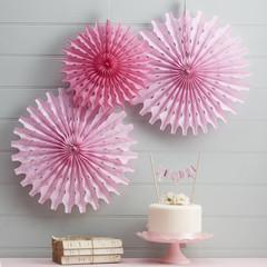 Pink Tissue Paper Fan