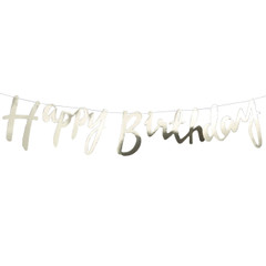 Happy Birthday, Gold Foil Banner
