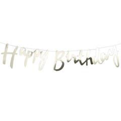 Happy Birthday, Gold Foil Banner