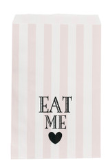 Miss Etoile Paper Bags, Pink Stripe, Eat Me