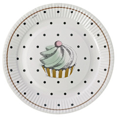 Miss Etoile Plates, Cake and Dots