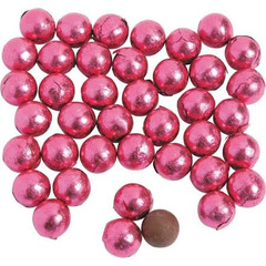 Chocolate Candies, Hot Pink Foil