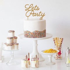 Cake Topper, Let's Party