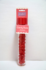 Jelly Bean Candy Tube, Ruby Red