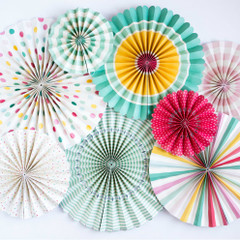 Hooray Pinwheel Party Fans