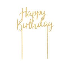 Cake Topper, Happy Birthday