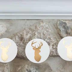 The Holiday Collection: Stag Mini Circle Banner
