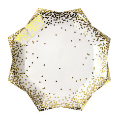 Gold confetti, Large Plates