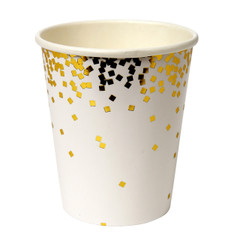 Gold confetti, Beverage Cups
