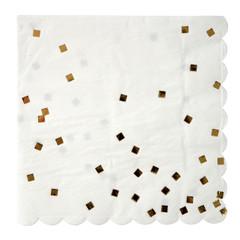 Gold confetti, Napkins